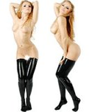 Anatomical Fetisso Latex Stockings with Left and Right Foot