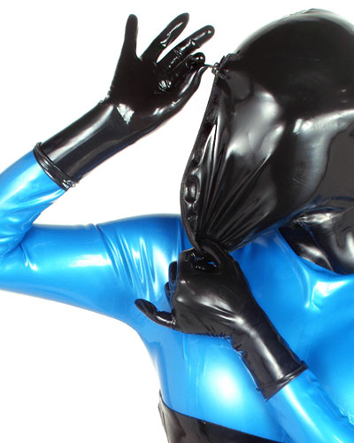 Thin Latex Short Gloves with Roller Edge