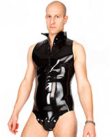 Sleeveless Latex Body with Crotch Flap