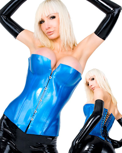 Glued 1 mm Latex Corset - up to Size 3XL