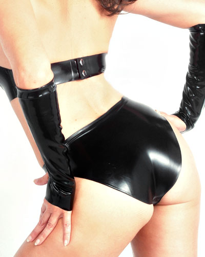 Latex Mini Briefs - also with Crotch Zipper
