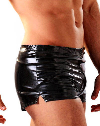 Black Gloss PVC Shorts