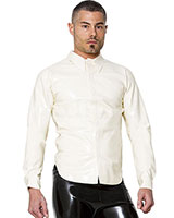 Glued White Gent's Rubber Shirt