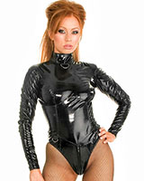 Gloss PVC Boned Black Mistress Body - up to 6XL