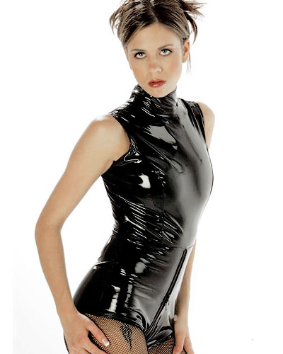 Gloss PVC Playsuit with 2 Way Zip