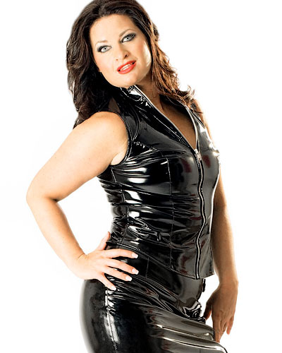 Black Gloss PVC Sleeveless Mistress Top - Up to 6XL