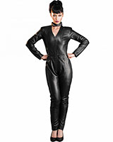 Black Leather Racer Catsuit