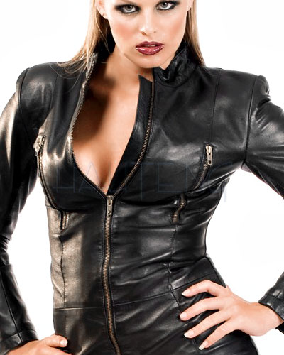 Black Leather Mistress Dress