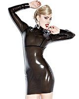 Glued Latex Smoke Screen Seducer Dress