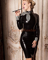 Countess Kleid aus geklebtem Latex
