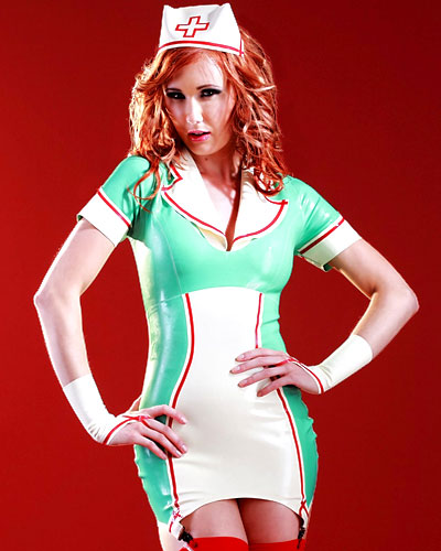 Natasha Nurse\'s Dress - Glued Latex