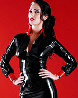 Glued Black and Red Latex Disciplinarian Shirt