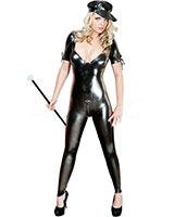 Glued Latex Catsuit with Short Sleeves