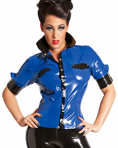 Glued Latex Short Sleeved Shirt