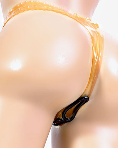 Ladies Latex Tanga with Vaginal and Anal Opening