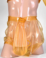 Latex Diaper Pants with Piss Bag