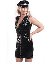 Zipped Black Gloss PVC Mini Skirt