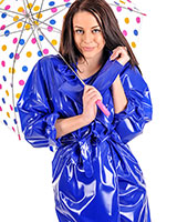 Double Breasted PVC Wrap Coat