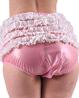 Adult Baby PVC Frilly Pants