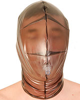 PVC Breathing Mask with Pipe and Back Zipper