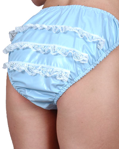 PVC Ladies Brief with Lace