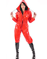 PVC One Piece Suit for Ladies - also with Crotch Slit