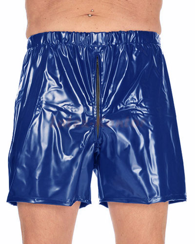 PVC Shorts with Zipper