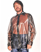 PVC Men's Shirt with Zipper