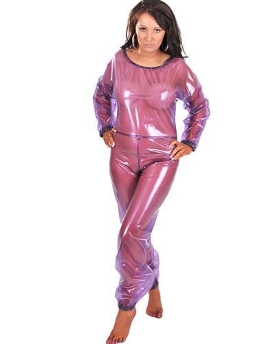 PVC One Piece Suit for Ladies - also Available with Crotch Slit