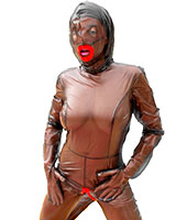 PVC Doll Catsuit for the Living Plastic Doll