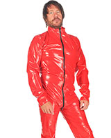 PVC Male Suit with 3 Way Zipper