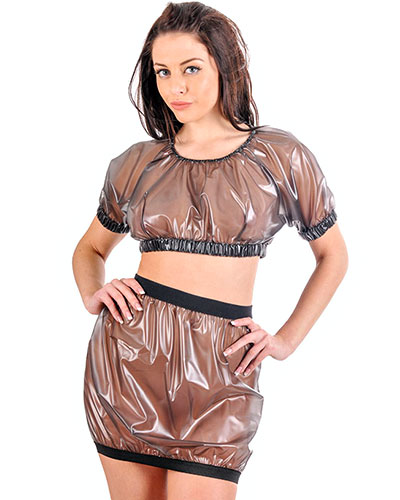 PVC Elasticated Top and Skirt