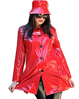 PVC Sixties Rain Coat