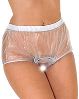 PVC Open Crotch Popper Pants - Unisex