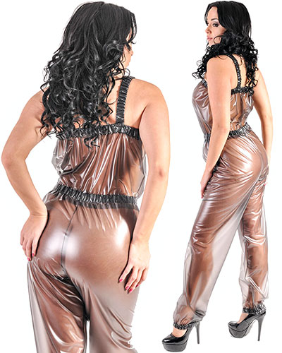 PVC Dungaree Suit for Ladies - also with Crotch Slit