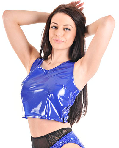 PVC Sassy Top with Zipper