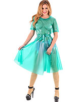 Nursey Dress aus PVC mit weitem Rock
