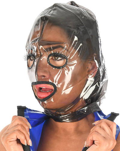 PVC Hood with Openings and Back Zipper