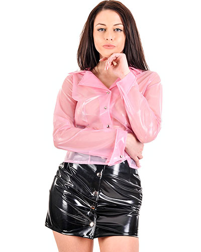 PVC Miniskirt with Poppers