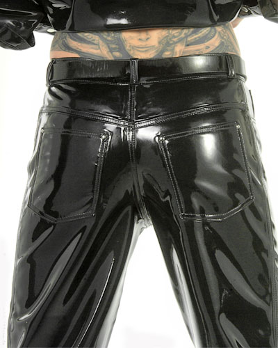 Jeans aus Latex - Five Pocket Style