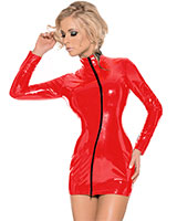 Datex Mini Dress with 2 Way Zipper