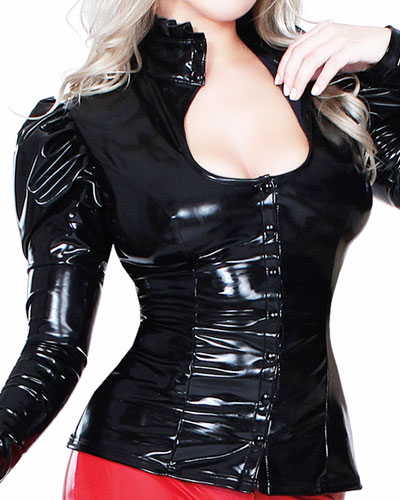 Datex Mistress Blouse with Button Tape and Gigot Sleeves