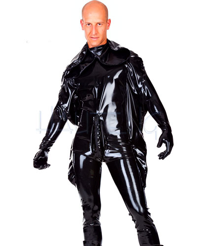 Men's Latex Punishment Suit with Hood