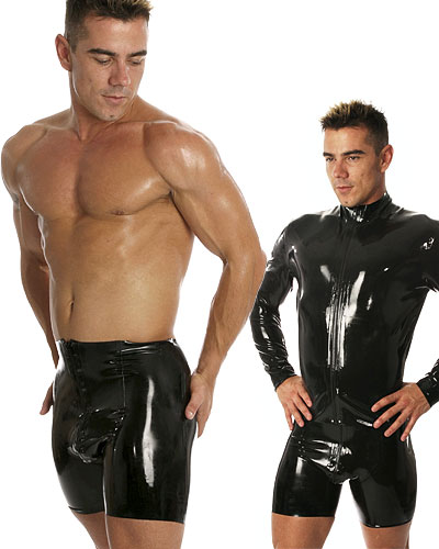 Glued Rubber Zip Through Cycle Shorts