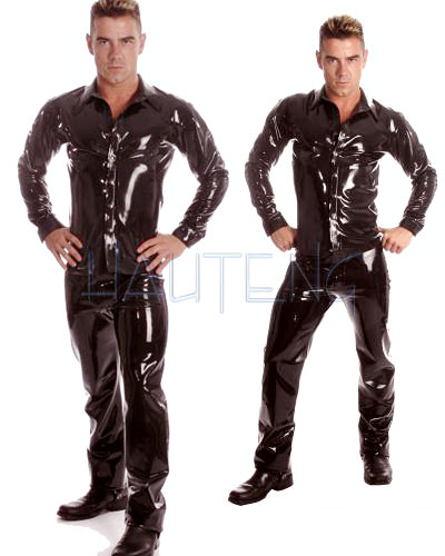 Black Glued Rubber Shirt