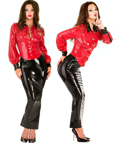 Hobblerock - Hobble Skirt - aus geklebtem Latex - bis 4XL