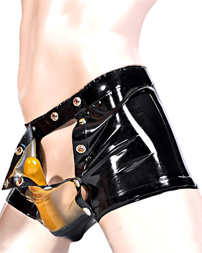 Latex-Shorts mit Codpiece