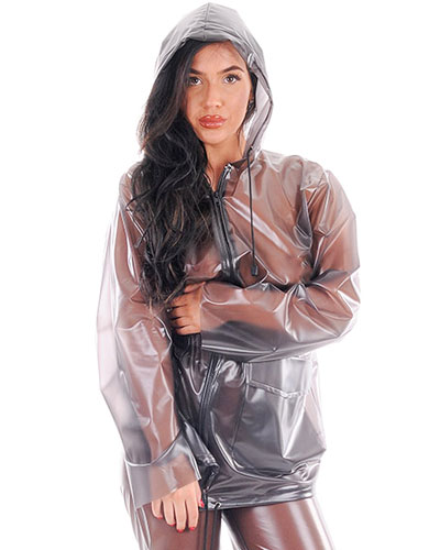 2 Piece PVC Hooded Rain Suit